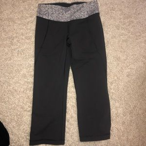 Dark Grey Lululemon Crop